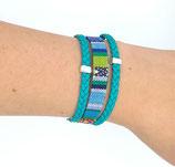 Bracelet tons bleu