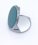 Miroir de poche turquoise