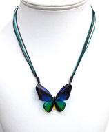 Pendentif papillon 3d bleu vert