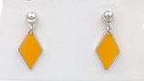 Boucles d'oreilles losange orange