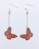 Boucles d'oreilles papillon rouge