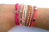 Bracelet manchette tons rose