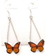 Boucles d'oreilles papillon jaune