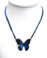 Pendentif papillon 3d bleu