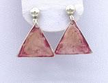 Boucles d'oreilles effet vitrail rose