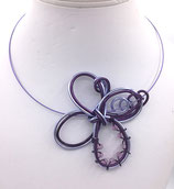 "Collier ""ellipse"" ton violet"