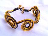 "A PERSONNALISER Bracelet ""spirale"" en fil aluminium"