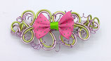 "Barrette fil aluminium ""noeud rose"""