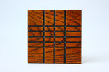 木のコースター(拭漆)4枚セット