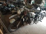 UdSSR Motorrad Gespann M72 und K750 Gespann (BMW R71, Ural)
