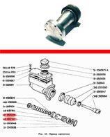 Kolben für Hauptbremszylinder HBZ GAZ 71, neu. Pistons for brake master cylinder GAS 71, new. Поршень главного цилиндра тормоза в сборе ГАЗ 71, новый.