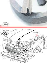 21-8402200 Motorhaube Dichtung GAZ 21 Wolga, neu. Seal engine hood GAZ 21 Volga, new. Уплотнитель капота задний ГАЗ 21 Волга, новый.