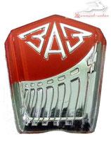 Emblem Motorhaube ZAZ 965, Sapo, Zaporozhets, Zaporozhetz, neu.  Hood emblem SAS 965, new. Заводской знак ЗАЗ 965 Горбатый, Запорожец, Запор, новая. 1966-1969