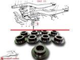 12-2801139 Rahmenquerträger Gummibuchse GAZ 21 Wolga. Frame cross member rubber bushing GAS M21 Volga. Втулка крепления поперечины ГАЗ М21 Волга.