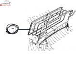 GAZ 69 Gummidichtung der Frontscheibe , aussen. GAS 69 windshield seal,exterior. Прокладка ветрового стекла ГАЗ 69, внешняя.