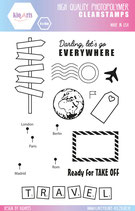 Clear Stamps TRAVELING by kioArts