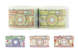 Washi Tape KAMERA FOTOAPPARAT FLORAL BUNT