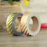 Washi Tape FOIL GOLD STRIPES OMBRÈ