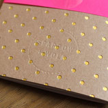 Sparrow + Wolf Notizheft A6 Gold Polka Dots