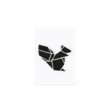 Postkarte Origami Eichhörnchen
