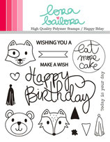 Clear Stamps Set LORABAILORA Happy Bday