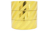 Washi Tape FOIL GOLD STRIPES GELB