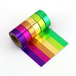 Washi Tape BUNT FOIL RAINBOW 6er SET