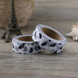 Washi Tape BABY FÜßE FOOTPRINTS SCHWARZ