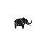 Postkarte Origami Elefant