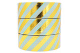 Washi Tape FOIL GOLD STRIPES MINT