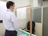【ワンタッチ調整式】ウィルス飛沫対策シールドアクリルパネルパーテーション