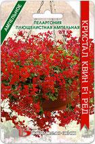 Пеларгония плющелистная ампельная Кристал Квин F1 Ред