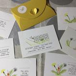 "Postkartenset ""Lieblingsblume"""