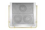 Ofenplatten mit Rahmen und Reling U-Form OP62/2662