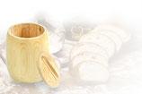 Ein Holzbehälter, Vorratsbehälter mit Deckel für 0,75kg Mehl,Korn oder sonstige