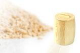 Ein Holzbehälter, Vorratsbehälter mit Deckel für 0,5kg Mehl,Korn oder sonstige
