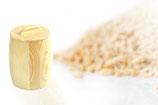 Ein Holzbehälter, Vorratsbehälter mit Deckel für 1,5 kg Mehl,Korn oder sonstige