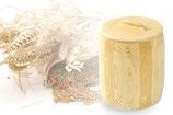 Ein Holzbehälter, Vorratsbehälter mit Deckel für 3 kg Mehl,Korn oder sonstige