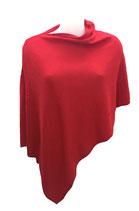 """Poncho in Cashmere 100% colore """"rosso"""""""