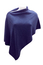 "Poncho in Cashmere 100% colore ""blu' Navy"""