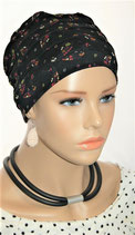 City Turban Cap 67 Black Daisys