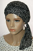 Mia City Turban 22 Animal Print Black&White