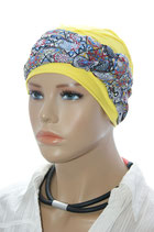 GM 131  2tlg. Set Turban Bahama Yellow und Band Mila