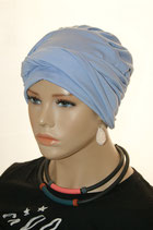 Shandra 21 Turban Cap Light Blue