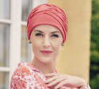 224 Body Balance Becca Turban 1293-244 Rapsberry Red