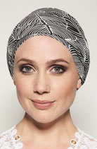 GM 410 Turban Malou Imprimee Black & White