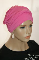 Shandra 41 Turban Cap Hot Summer Pink