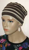City Turban Cap 11 Winterday Stripe Milkcoffee