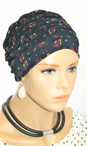 City Turban Cap 66 Blue Daisys