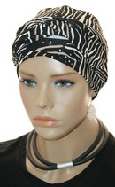 GM 499 Turban Malou 806 Black&Nature